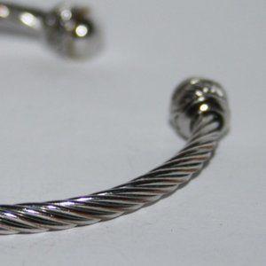 """Vintagejelyfish Jewelry - Silver wire cuff bracelet 7"""""""